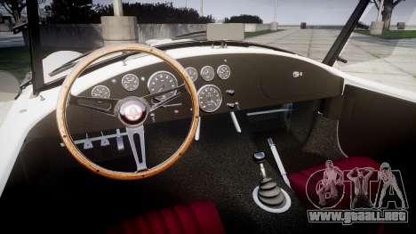 AC Cobra 427 PJ3 para GTA 4 vista interior