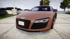 Audi R8 plus 2013 Wald rims para GTA 4
