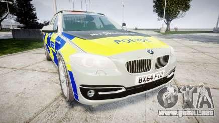 BMW 525d F11 2014 Police [ELS] para GTA 4