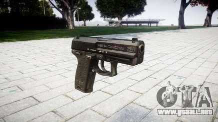 La pistola HK USP 40 para GTA 4