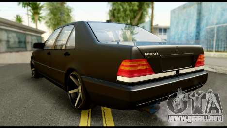 Mercedes-Benz 600SEL para GTA San Andreas left