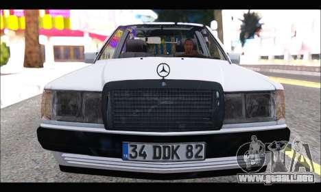 Mercedes Bad-Benz 190E (34 DDK 82) para GTA San Andreas left