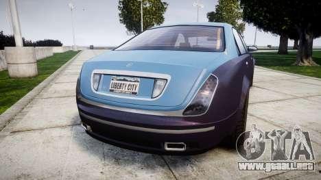 Enus Cognoscenti VIP para GTA 4 Vista posterior izquierda