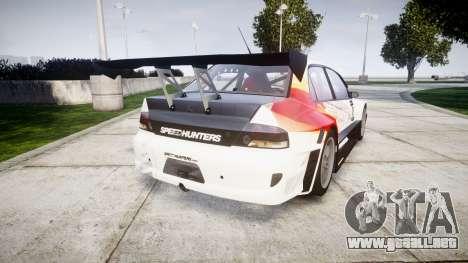 Mitsubishi Lancer Evolution IX HQ para GTA 4 Vista posterior izquierda