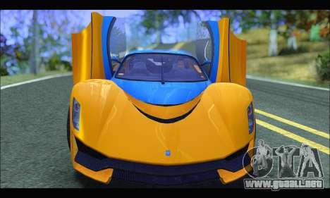 Grotti Turismo R v2 (GTA V) (IVF) para GTA San Andreas vista hacia atrás