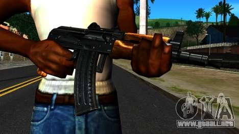 Brillante AKS-74U v2 para GTA San Andreas tercera pantalla