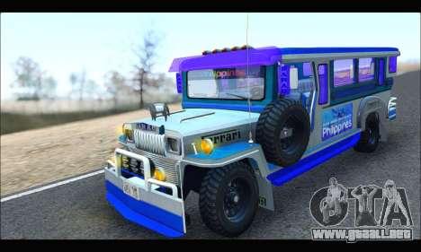 Light Jeepney para GTA San Andreas left