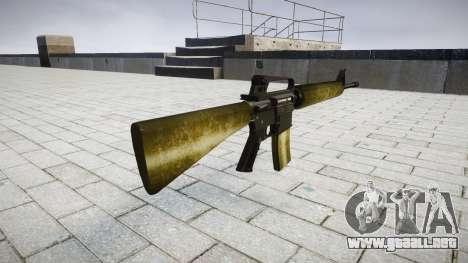 El rifle M16A2 de oliva para GTA 4 segundos de pantalla