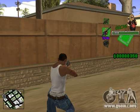 C-HUD Grove St. para GTA San Andreas segunda pantalla