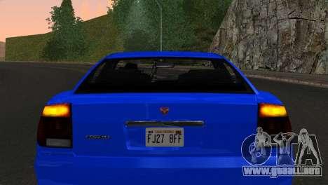 Bravado Buffalo Sedan v1.0 (IVF) para GTA San Andreas vista hacia atrás
