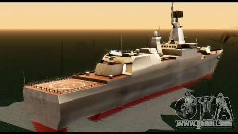 Admiral Sergey Gorshkov para GTA San Andreas vista posterior izquierda