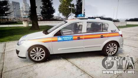Vauxhall Astra 2005 Police [ELS] Britax para GTA 4 left