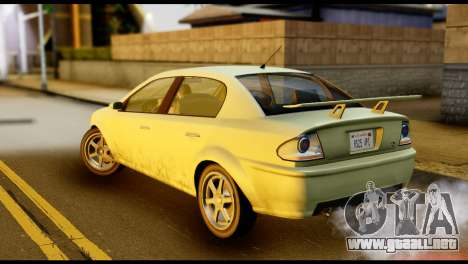DeClasse Premier from GTA 5 para GTA San Andreas left