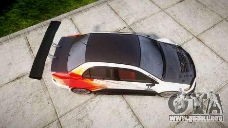 Mitsubishi Lancer Evolution IX HQ para GTA 4 visión correcta