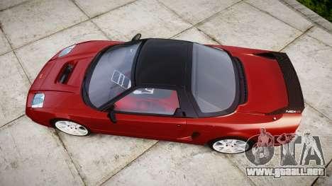 Honda NSX-R para GTA 4 visión correcta