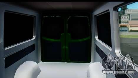 Mercedes-Benz Sprinter De La Banca Privada para visión interna GTA San Andreas