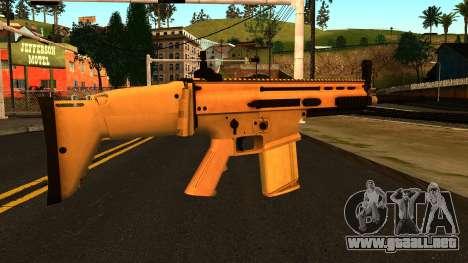 FN SCAR-H from Medal of Honor: Warfighter para GTA San Andreas segunda pantalla