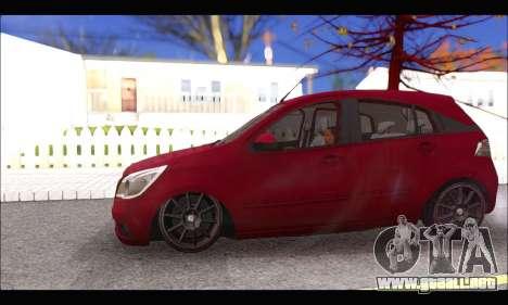 Chevrolet Agile Tunning para GTA San Andreas vista hacia atrás