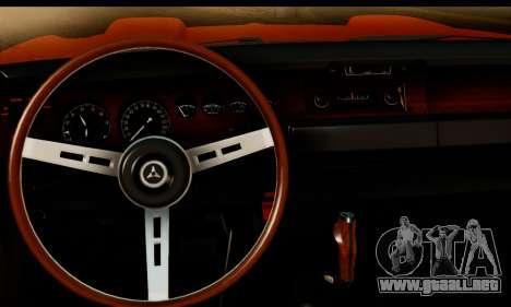 Dodge Coronet Super Bee 1970 para GTA San Andreas vista posterior izquierda