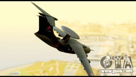 Beriev A-50 Russian Air Force para GTA San Andreas left
