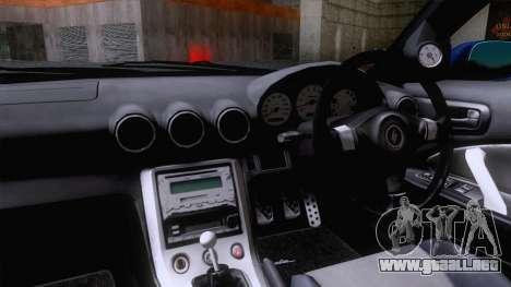 Nissan Silvia S15 Stock para GTA San Andreas vista posterior izquierda