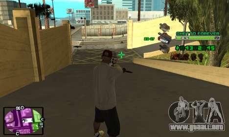 C-HUD Ghetto 4ever para GTA San Andreas sucesivamente de pantalla