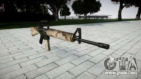 El rifle M16A2 [óptica] sahara para GTA 4