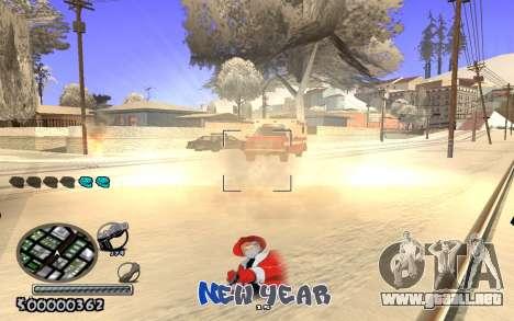 C-HUD New Year para GTA San Andreas segunda pantalla