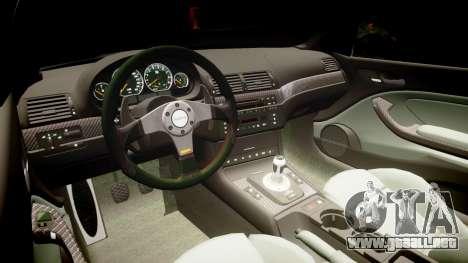 BMW E46 M3 para GTA 4 vista hacia atrás