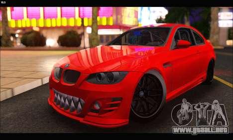 BMW M3 GTS 2010 para GTA San Andreas vista hacia atrás
