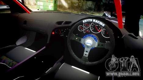 Mazda RX-7 Rocket Bunny MadMake para GTA 4 vista hacia atrás