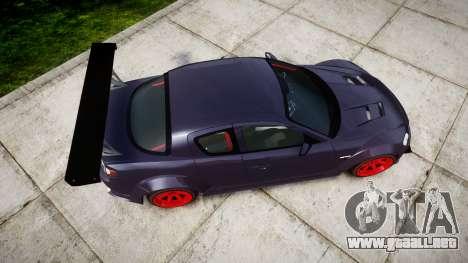 Mazda RX-8 Duck Edition para GTA 4 visión correcta