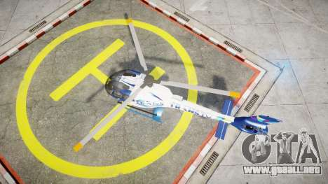 Eurocopter EC130 B4 TRANS TV para GTA 4 visión correcta