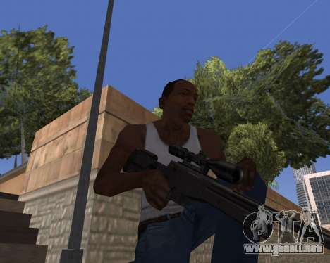 HD Weapon Pack para GTA San Andreas segunda pantalla