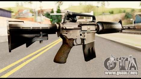 M4 from Metal Gear Solid para GTA San Andreas segunda pantalla