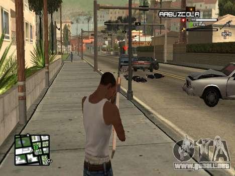 CLEO HUD by SampHack v.20 para GTA San Andreas tercera pantalla