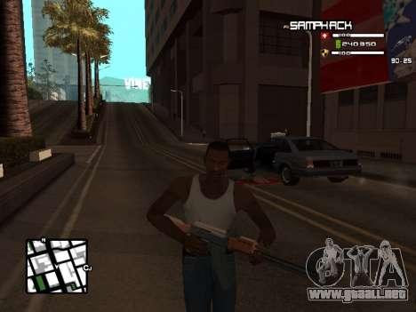 С-HUD por SampHack v. 21 para GTA San Andreas tercera pantalla