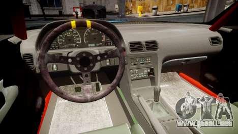 Nissan Silvia S13 Missile para GTA 4 vista hacia atrás