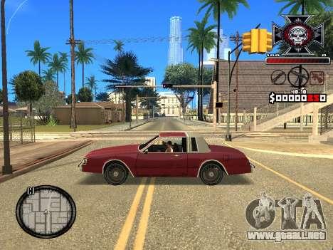 C-HUD for Ghetto para GTA San Andreas sucesivamente de pantalla