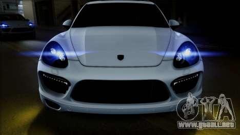 Porsche Cayenne Turbo 2012 para GTA San Andreas vista hacia atrás