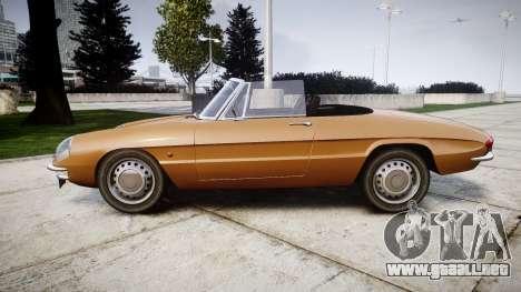 Alfa Romeo Spider 1966 para GTA 4 left