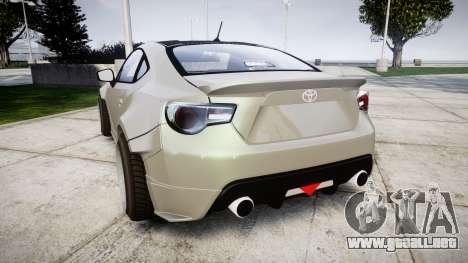 Toyota GT-86 RocketBunny para GTA 4 Vista posterior izquierda