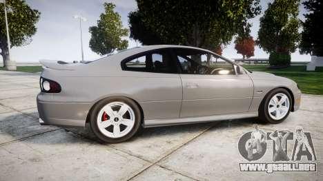 Pontiac GTO 2006 17in wheels para GTA 4 left