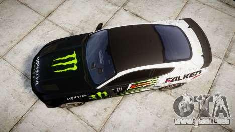 Ford Mustang GT 2015 Custom Kit monster energy para GTA 4 visión correcta