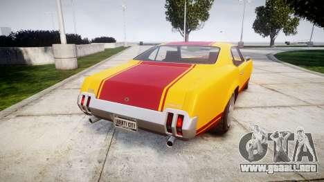 Declasse Sabre GT Little Wheel para GTA 4 Vista posterior izquierda