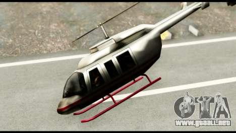 Beta Maverick para GTA San Andreas vista posterior izquierda