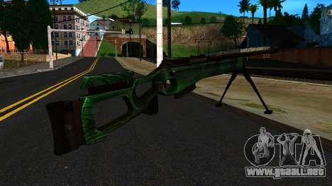 El SV-98 con un Bípode y no de la mira trasera para GTA San Andreas segunda pantalla