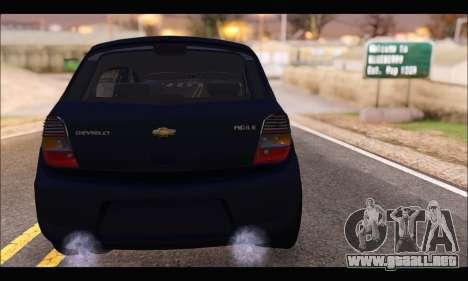 Chevrolet Agile Tunning para GTA San Andreas vista posterior izquierda