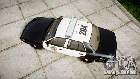 Ford Crown Victoria LAPD [ELS] para GTA 4 visión correcta