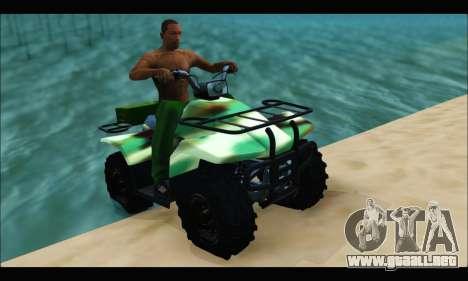 ATV Army Edition para GTA San Andreas vista posterior izquierda